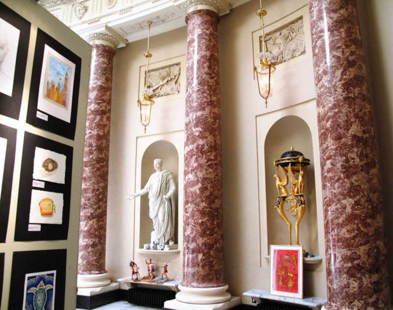 Stowe House with students' artwork on display. Credit Karen Mallonee, flickr