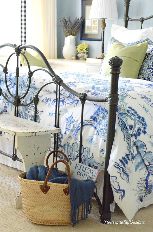 Guest Room-French Market Basket-Housepitality Designs