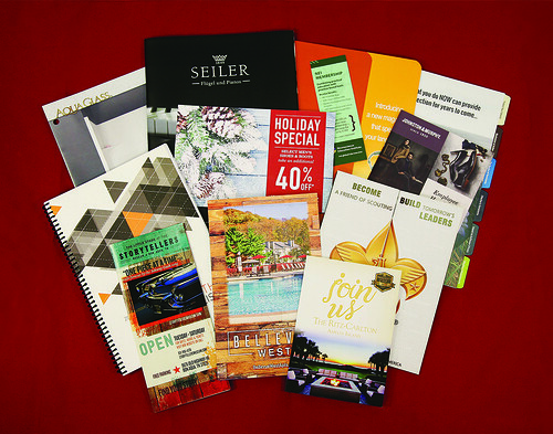 Brochures, Flyers, Folders, Books etc.