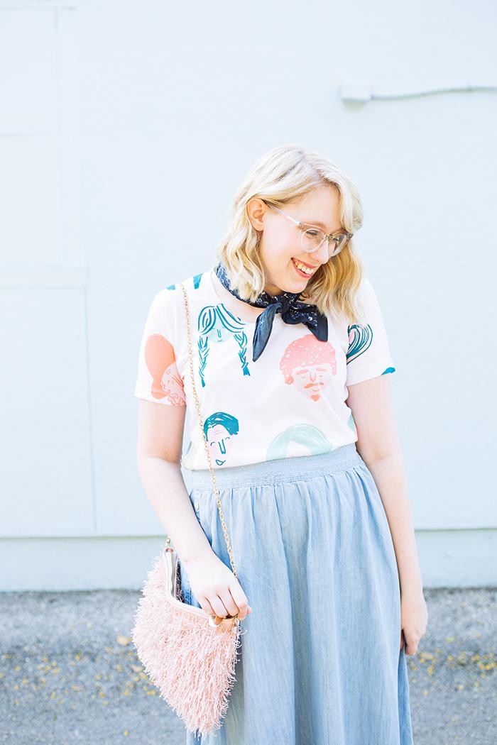 austin style blogger writes like a girl chambray madewell midi skirt13