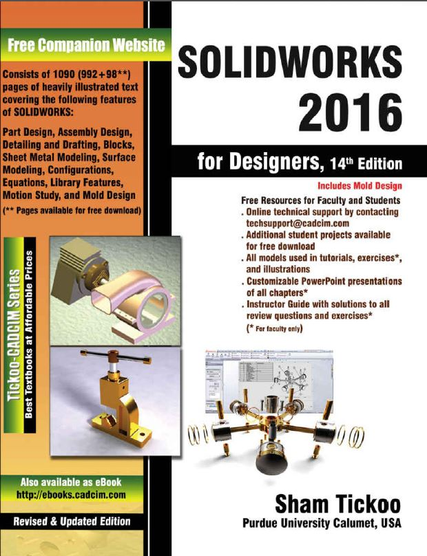 SolidWorks 2016 guiding book for designers