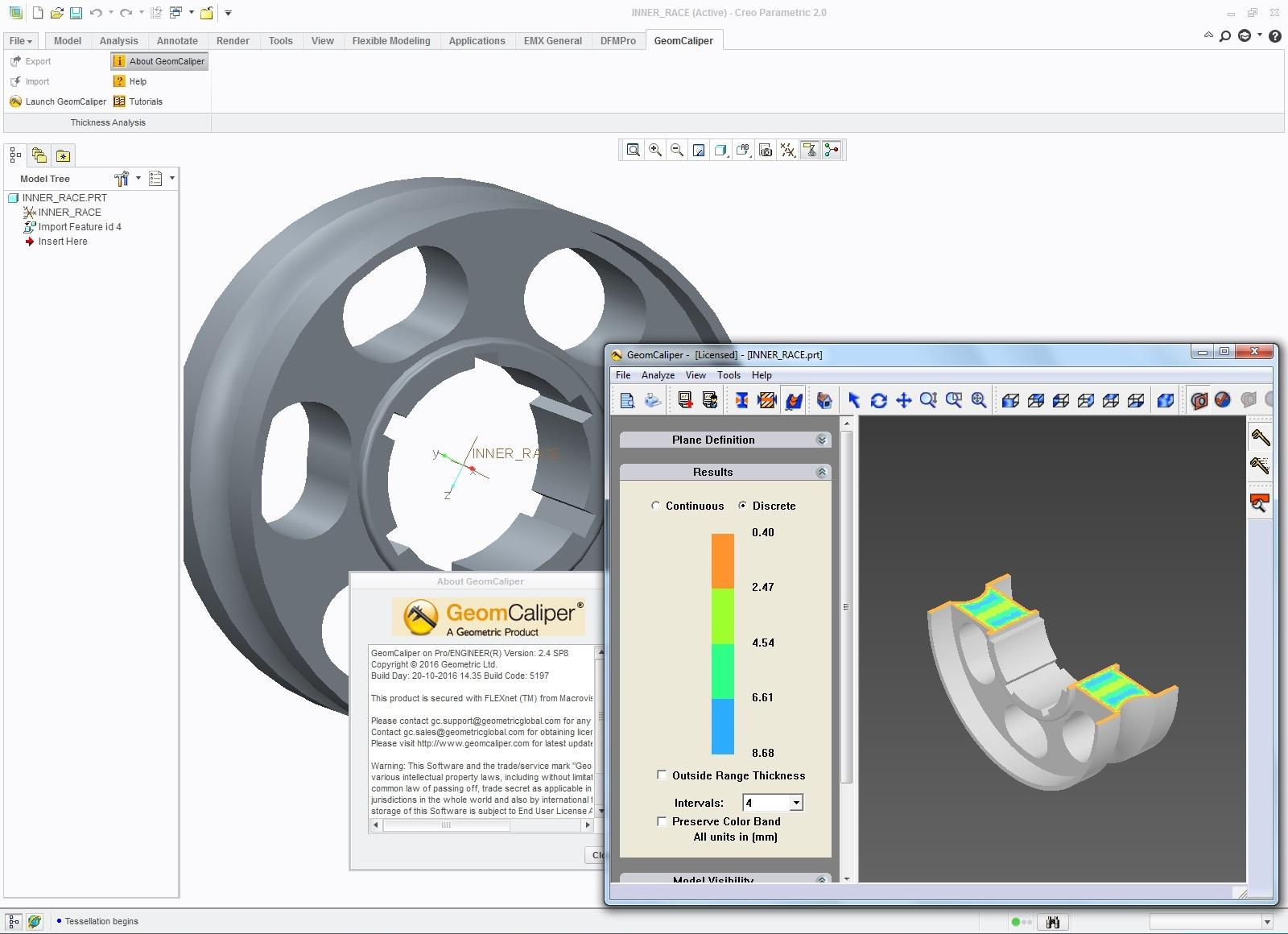 Geometric GeomCaliper 2.4 Build 5330 SP8 for ProEngineer-creo 1-3.0 full