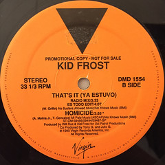 KID FROST:THAT'S IT(YA ESTUVO)(LABEL SIDE-B)