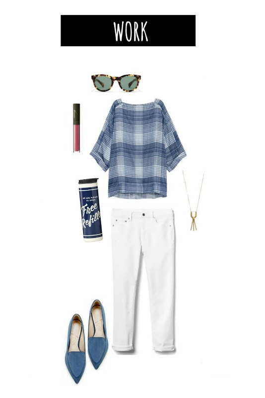 3 ways to wear white jeans work | Style On Target blog