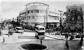 "4 Nov 1940 - No. 4 - ""ALLENBY ROAD"", Tel Aviv, Palestine (now Israel) - rare real photo card - circa 1937"