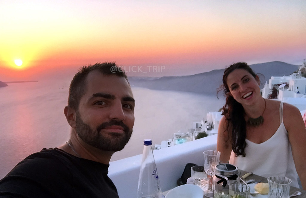 · Preparados para cenar en The Athenian House, Imerovigli ·