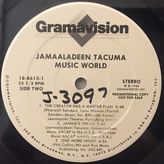 JAMAALADEEN TACUMA:MUSIC WORLD(LABEL SIDE-A)