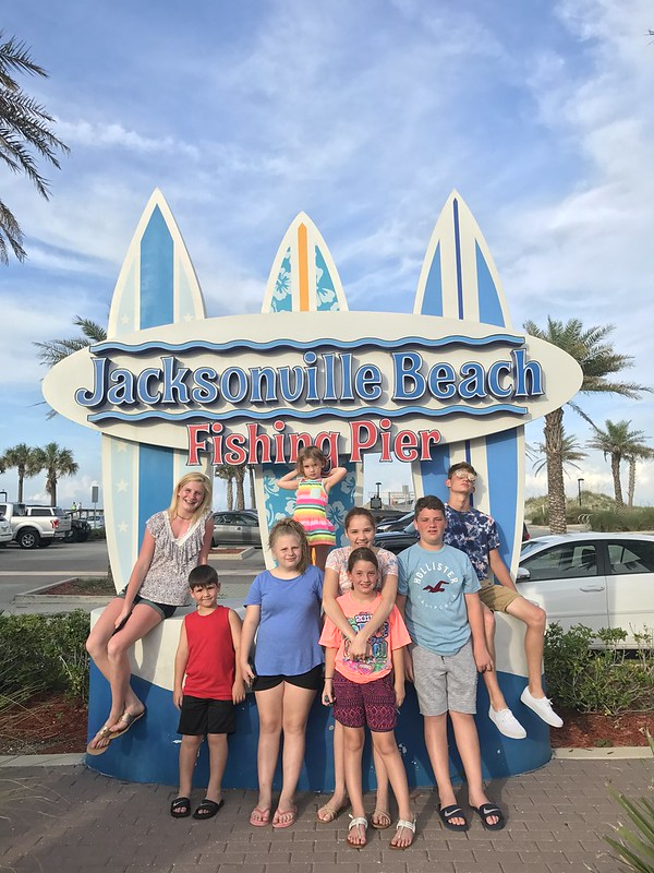 Jacksonville Beach Pier with the kids