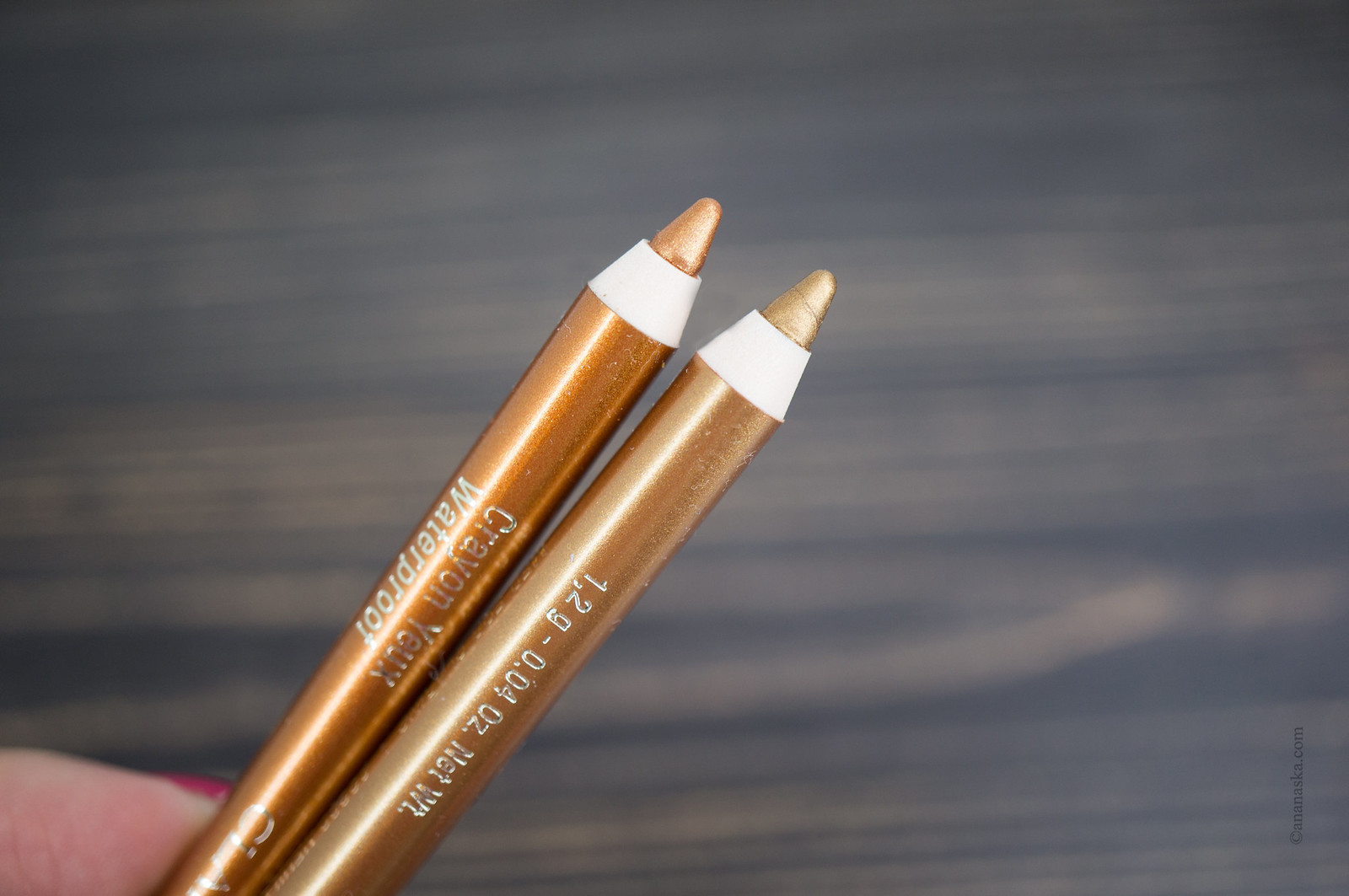 Clarins Crayon Yeux Waterproof: 06 gold, 07 copper