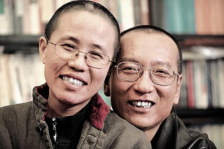 資料圖片:劉霞和劉曉波,圖片來源:網絡圖片
