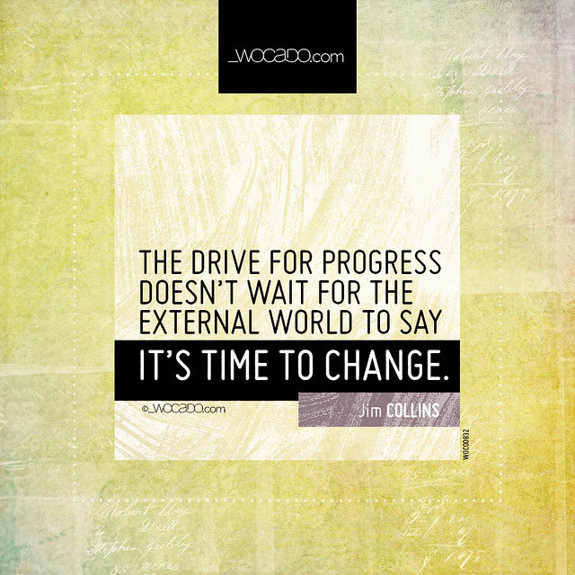 The drive for progress by WOCADO.com