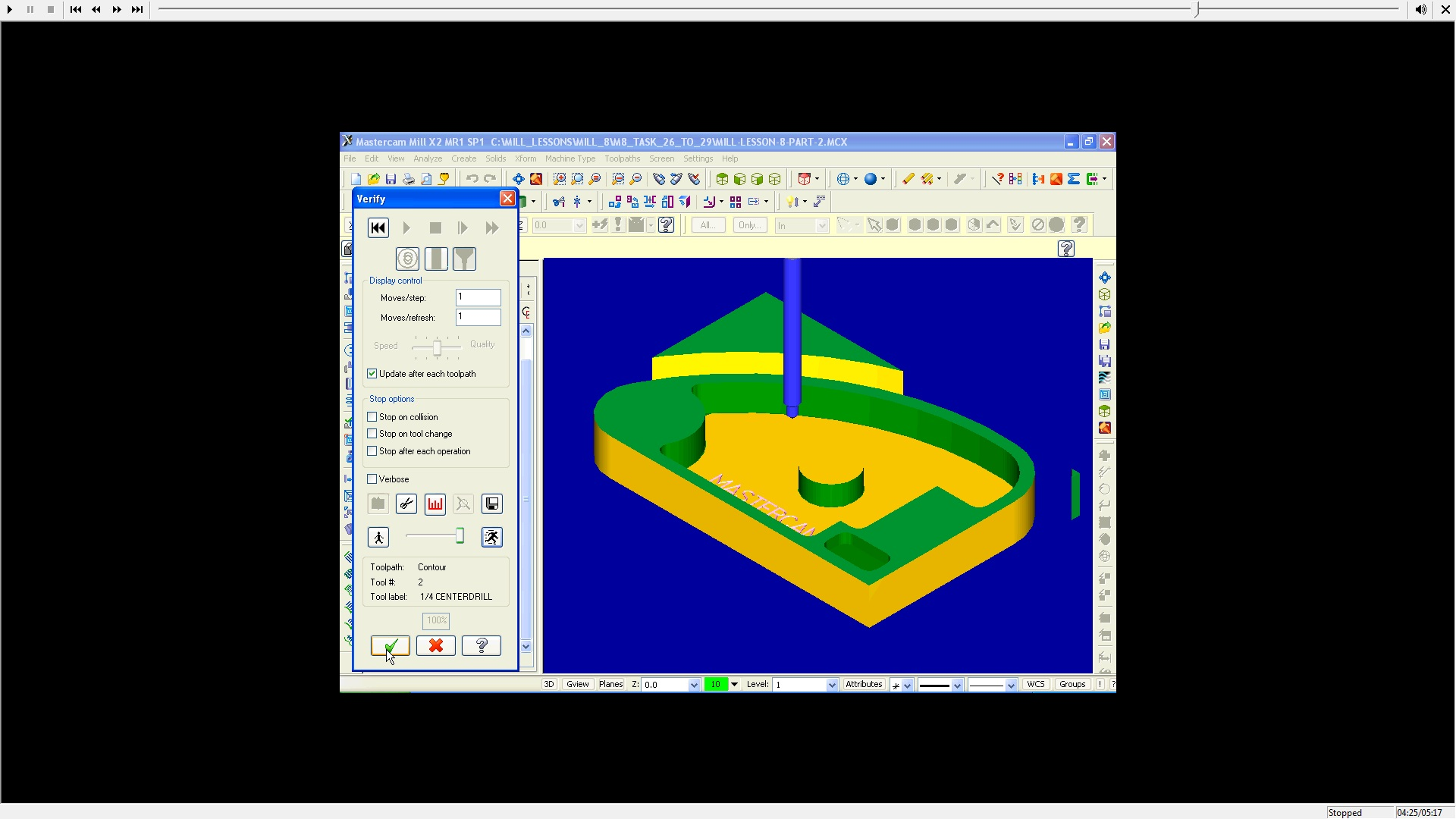 Learn program with Mastercam X3 Training Guide Mill 2D