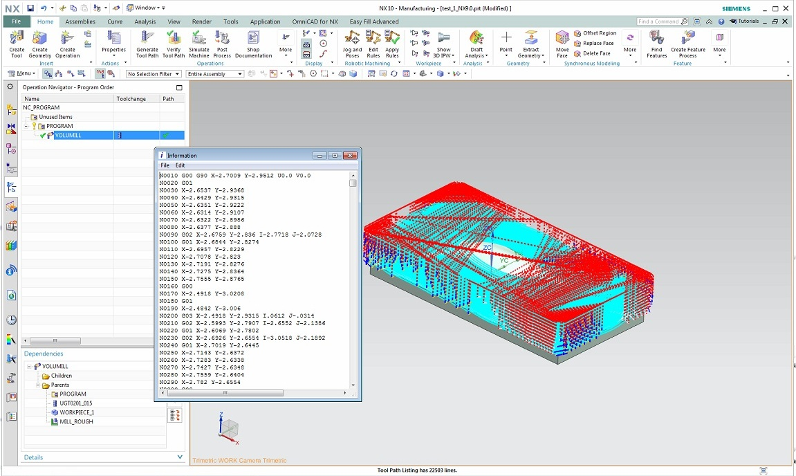 Create toolpath with VoluMill V7.2.0.2821 for NX7.5-10.0 Win32-64 full