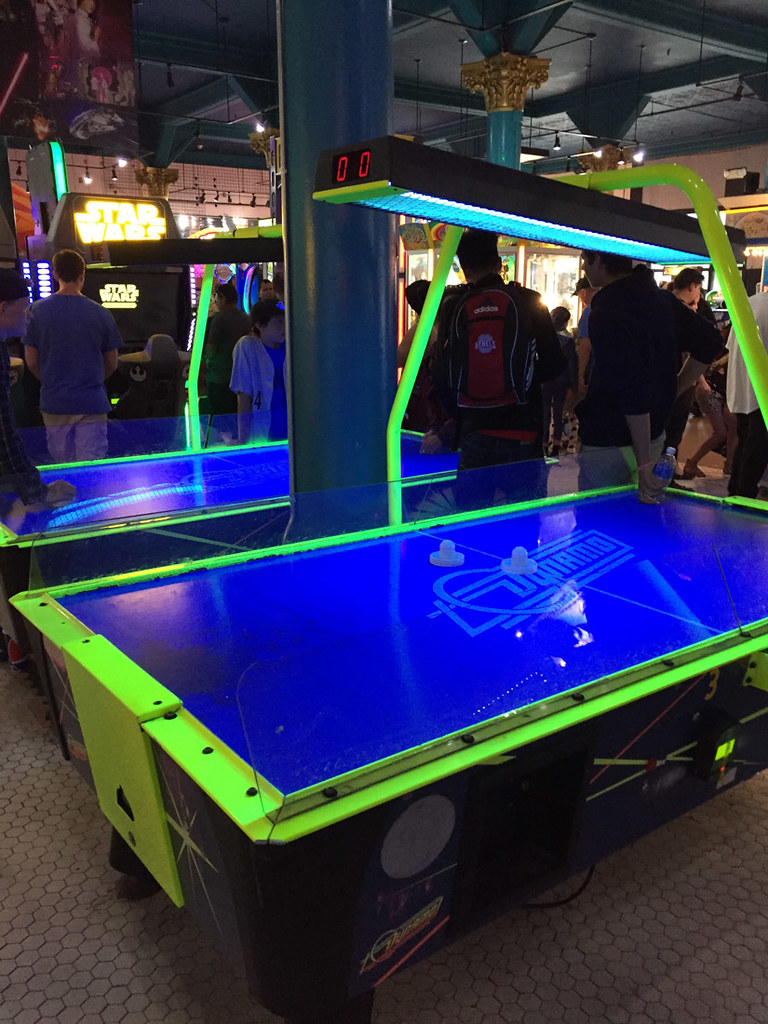 Air hockey table at Santa Cruz Boardwalk Arcade