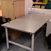 Grey metal frame folding table E70