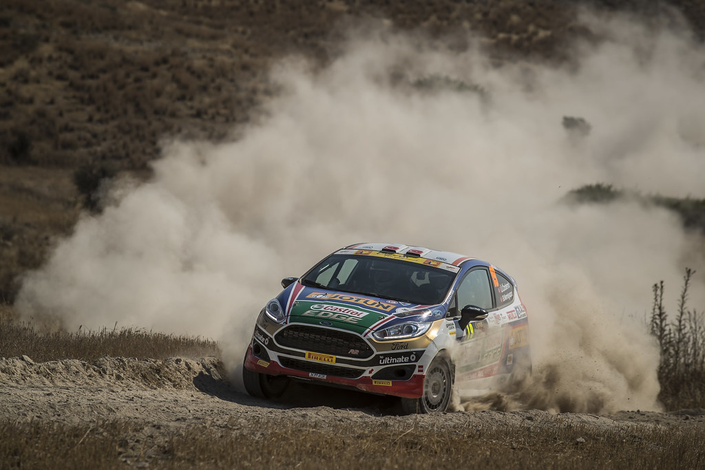 19 OZDEMIR Umitcan (tur) and MEMISYAZICI Batuhnan (tur) CASTROL FORD TEAM TÜRKIYE FORD FIESTA R2 action during the 2017 European Rally Championship ERC Cyprus Rally,  from june 16 to 18  at Nicosie, Cyprus - Photo Gregory Lenormand / DPPI