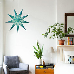 zeke turquoise Star Lamps