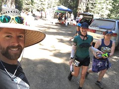 #StevensCreekStriders club president Mandie Holmes cruising #Elated through #LastChance! #RunningOnReefer #MoonmansMistress #TrailRunning #UltraRunning #AidStation #100MileRun