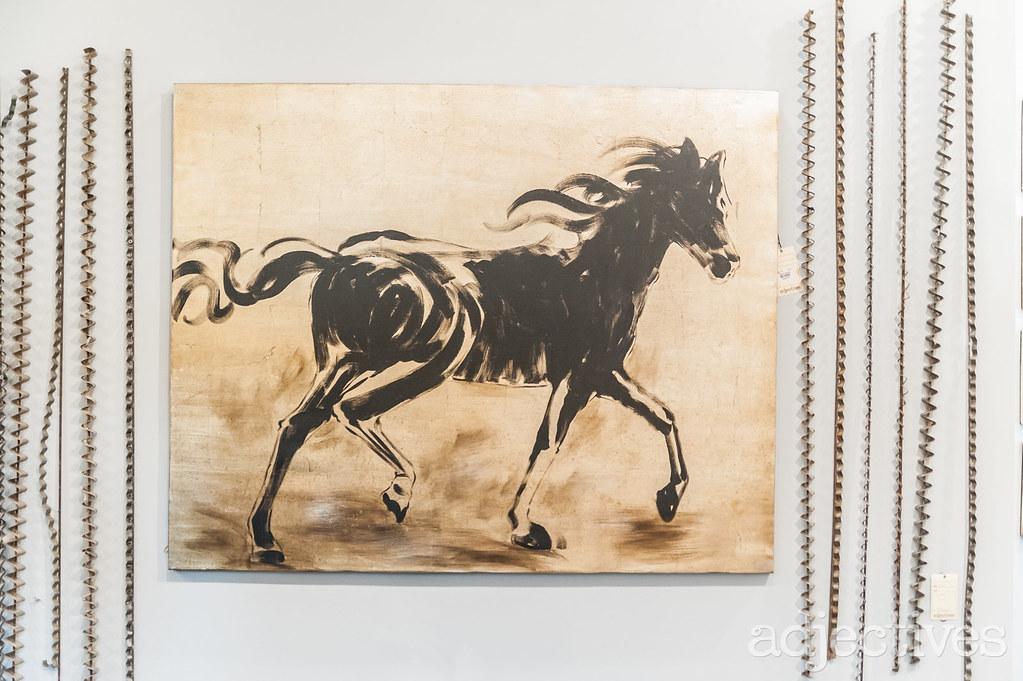 Horse painting in Winter Garden