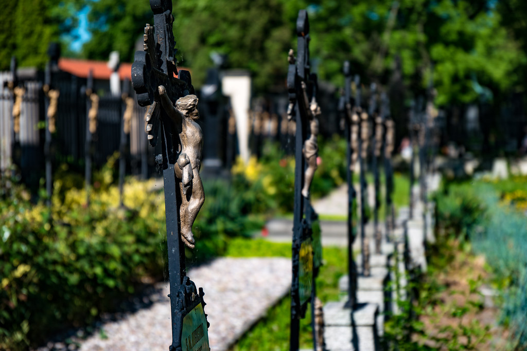 Cemetery at Basilica of St. Peter and St. Paul, Prague
