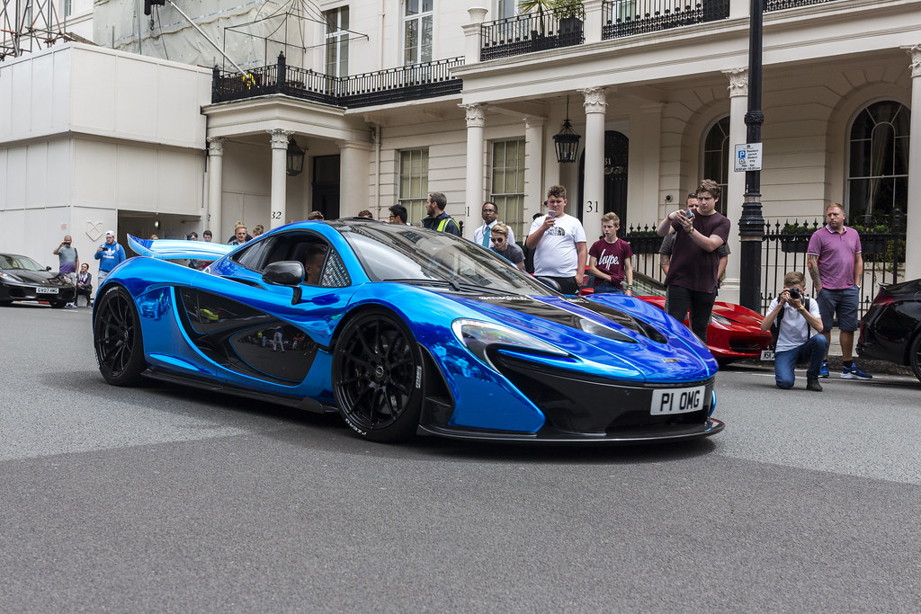 blue chrome mclaren p1 | i was down in london for the day fo… | flickr