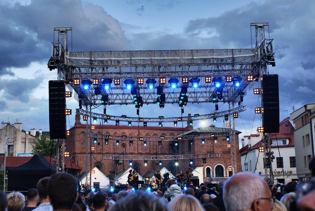 > Pendant un concert du festival de culture juive de Cracovie à Kazimierz