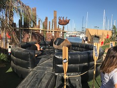 At the WRECKED Pop-Up Island party event in Marina Del Rey #WreckedTBS