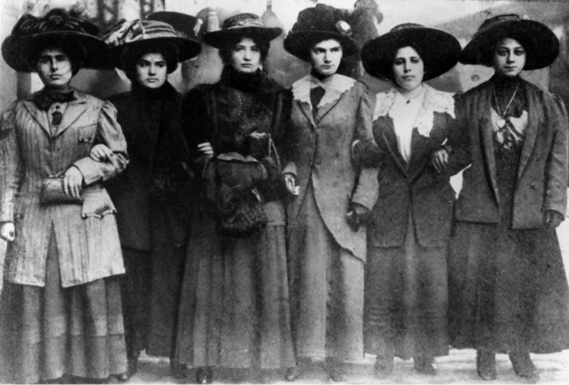 Six Shirtwaist Strike women, 1909