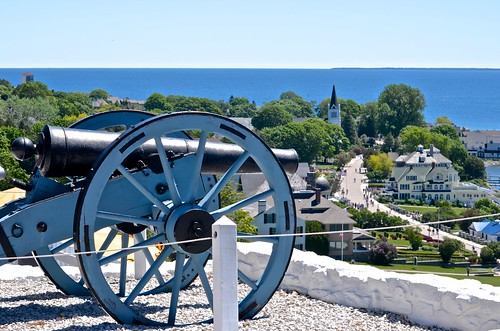 cannon fort mackinacisland view waterfrontstreet