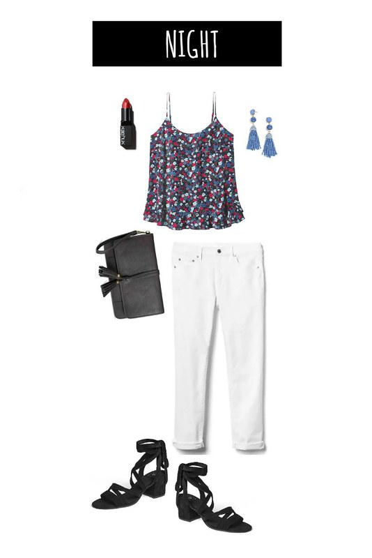 3 ways to wear white jeans night | Style On Target blog