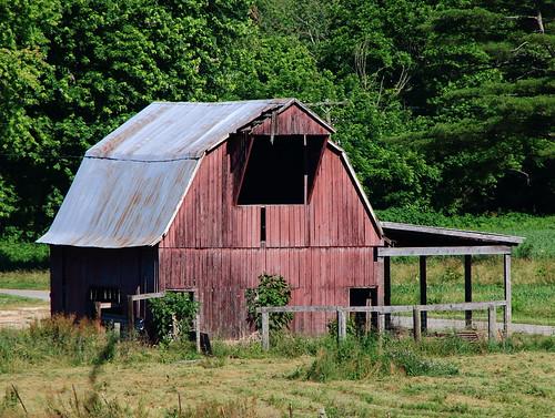 Old Barn Near Mifflin, Indiana (Crawford County)