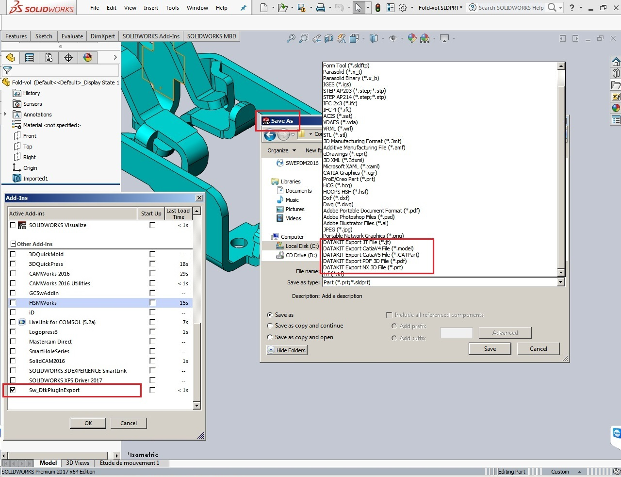 process with DATAKIT 2016 Plugins for SolidWorks 2010-2017