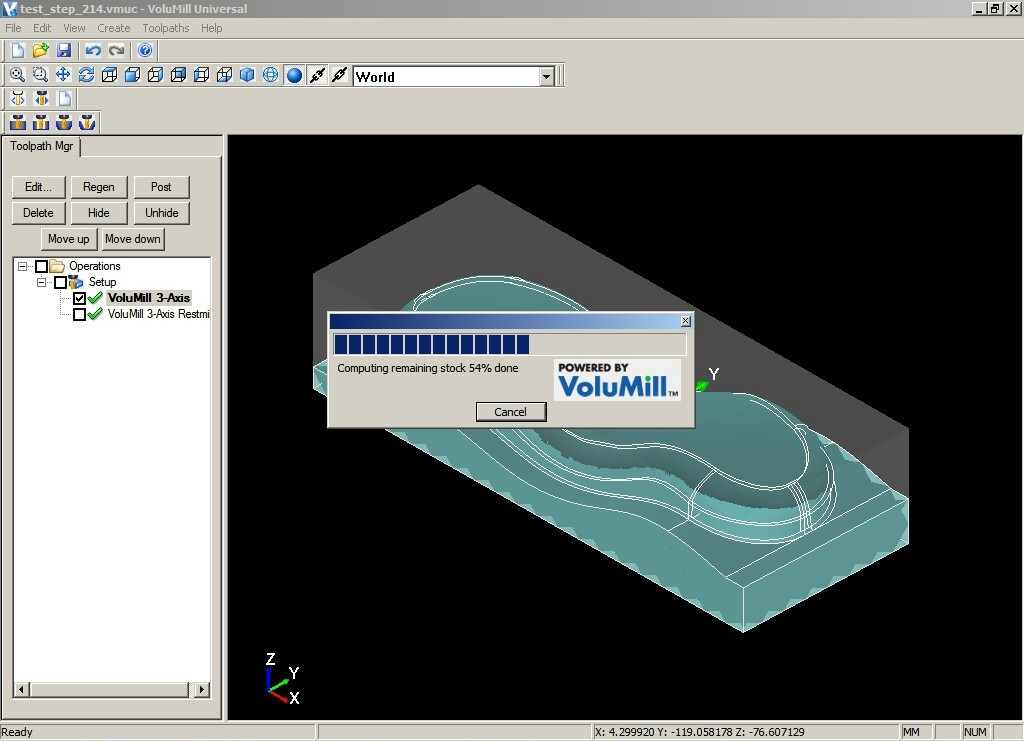 Working with VoluMill Universal 4.1 full crack