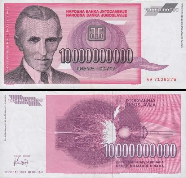 10 000 000 000 Dinárov Juhoslávia 1993, P127
