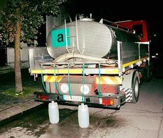 Le autobotti mobilitate durante l'emergenza