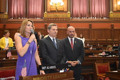 Rep. Klarides and Rep. Skulczyck introduce Capt. Pete Wikul, a retired veteran who served 39 years in the United States military as a Navy Seal.