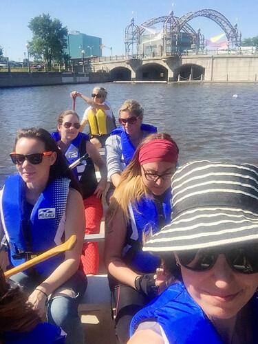 attempted canoe selfie