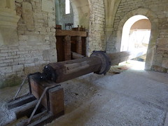 Fontenay Abbey - The forge - waterwheel replica