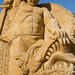 "Sand sculpture ""The battle of Siegfried with the dragon Fafnir"" by Oleg.A"