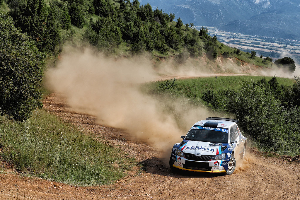 01 MAGALHAES Bruno (prt) and MAGALHAES Hugo (prt) action during the European Rally Championship 2017 - Acropolis Rally Of Grece - Loutraki From June 2 to 4 in Loutraki - Photo Gregory Lenormand / DPPI