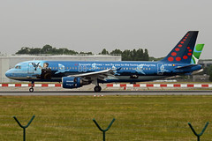 Brussels Airlines Airbus A320-214 OO-SNC  we fly you to the home of Magritte