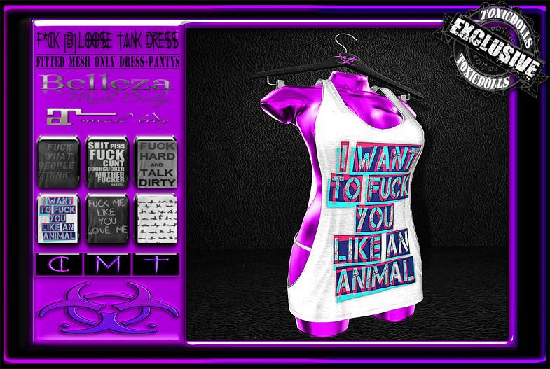 [TD] Fck Loose Tank Dress [B] - SecondLifeHub.com