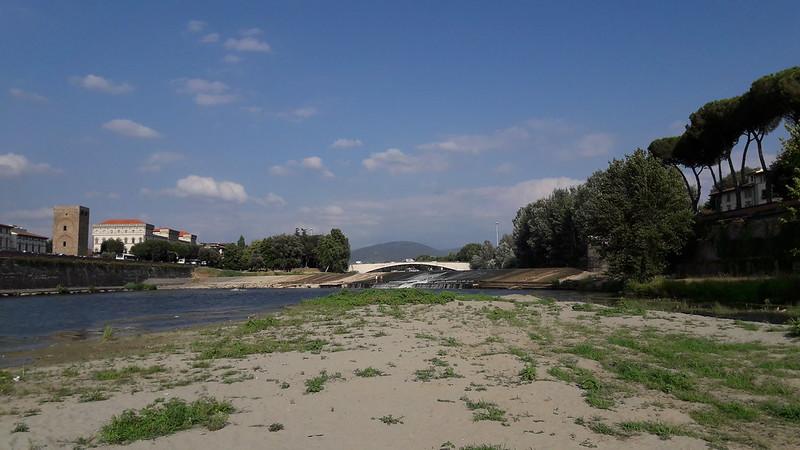 Arno a Firenze, la traversa di San Niccolò