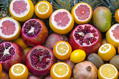 Lemons, Blood oranges,Kiwi fruit, Pomegranate,Mangoes and Pineapples | by Dreaming of the Sea
