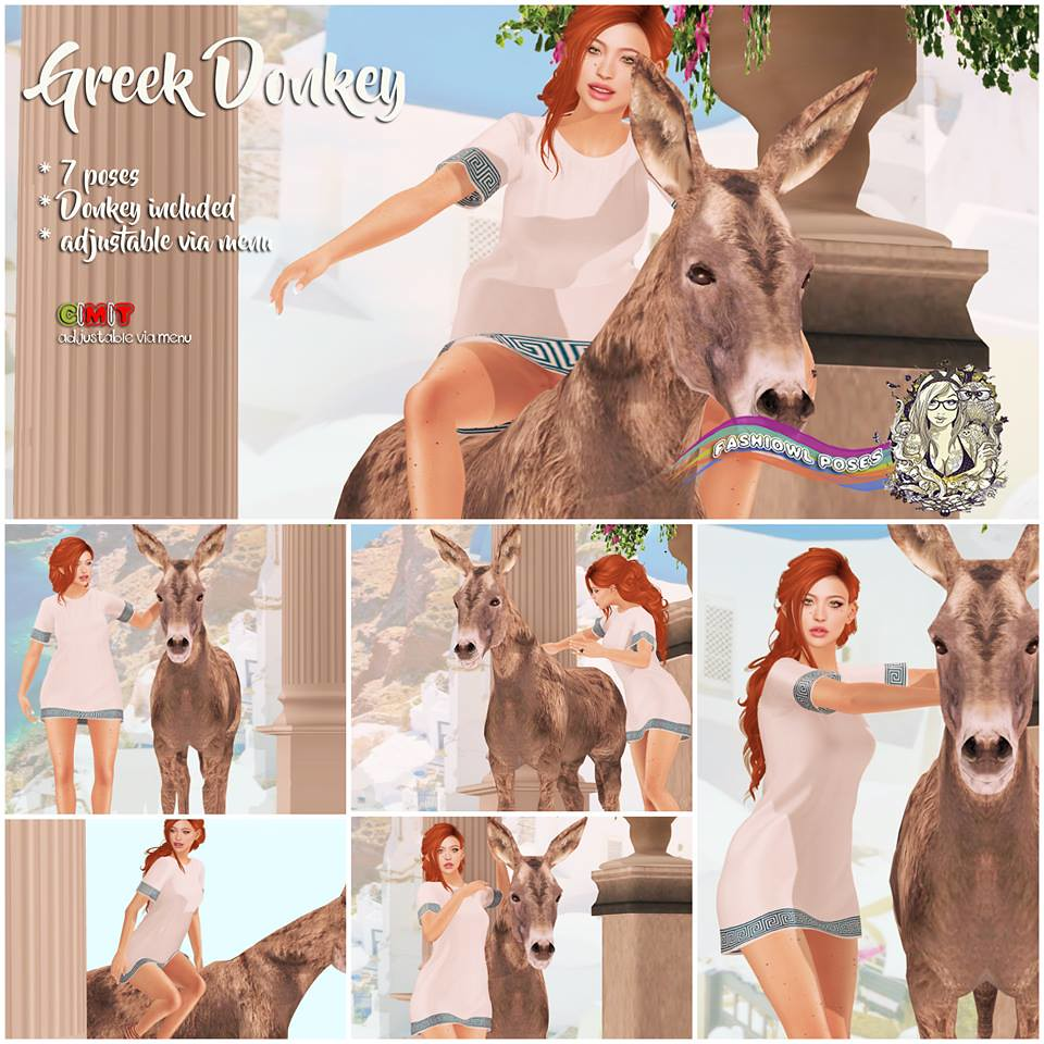 =fashiowl poses=Greek Donkey - SecondLifeHub.com