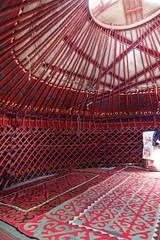 Yurt interior, Kochkorka