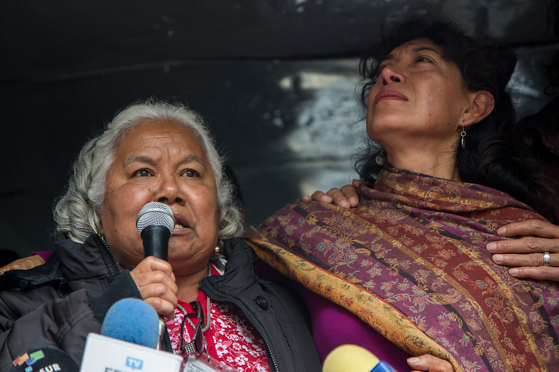 Familiares de Lesvy Berlín Rivera Osorio, su defensa y diferentes organizaciones acudieron a la Fiscalía Superior de Justicia de la CDMX
