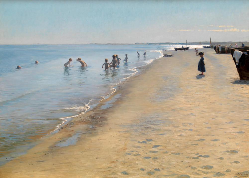 Summer Day at Skagen South Beach by Peder Severin Krøyer, 1884