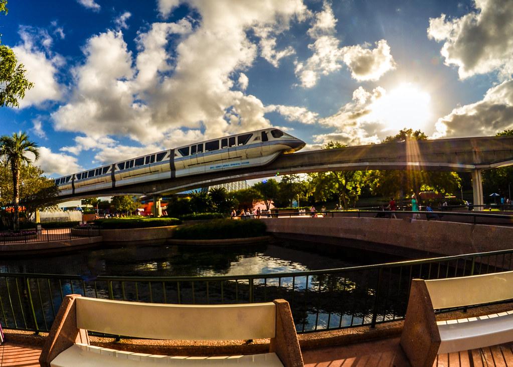 Monorail sunburst Epcot