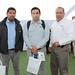 Christian Acosta y Daniel Montero, ambos de Liebherr Chile, junto a Stuven Campos, gestor de Negocios de Swanson Industries Chile